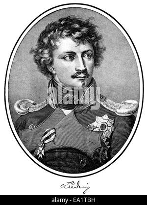 Ludwig I, King of Bavaria, 1786-1868, German prince of the House of Wittelsbach, Portait von Ludwig I., König von - Stock Photo