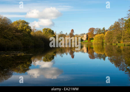 Autumn at Newstead Abbey in Nottinghamshire England UK - Stock Photo