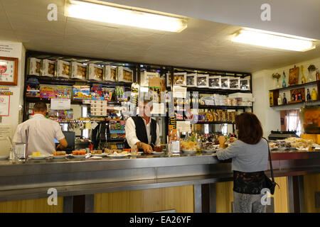 Typical Spanish road side cafe, bar and restaurant, Venta near Seville. Spain - Stock Photo
