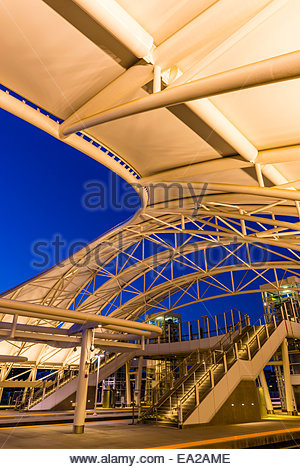The train hall canopy at the newly renovated Denver Union Station Downtown Denver Colorado & The train hall canopy at the newly renovated Denver Union Station ...