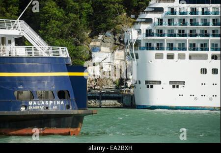 Cruise,Dock,Ferry,Alaska - Stock Photo
