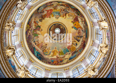 St Isaac's Cathedral, in Saint Petersburg,  is an architectural marvel. The cathedral built by French-born architect - Stock Photo