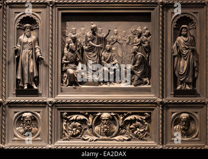 Detail of a door in St Isaac's Cathedral, in Saint Petersburg.  The cathedral built by French-born architect Auguste de Montferr