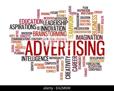 advertising vision concept word cloud - Stock Photo