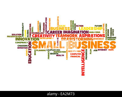 small business concept word cloud - Stock Photo