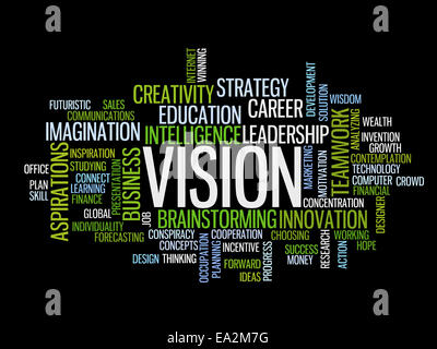 business vision concept word cloud - Stock Photo