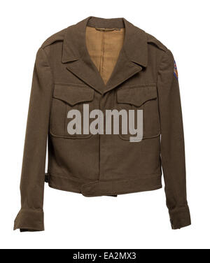 An American World War II Eisenhower Jacket which was part of the military uniform of the United States Army Air - Stock Photo