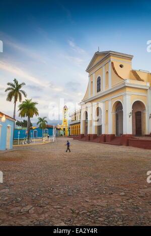 Iglesia Parroquial de la Santisima Trinidad, Plaza Mayor, Trinidad, UNESCO Site, Sancti Spiritus Province, Cuba, - Stock Photo