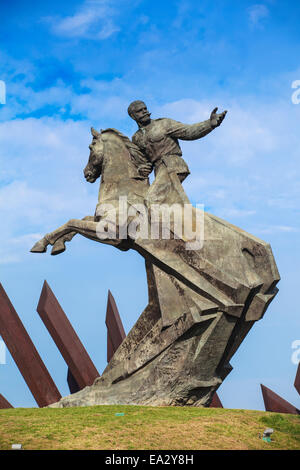 Monument to General Antonio Maceo, Plaza de la Revolucion, Santiago de Cuba, Santiago de Cuba Province, Cuba, West - Stock Photo