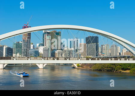 Kurilpa Bridge in Brisbane, Queensland, Australia, Pacific - Stock Photo