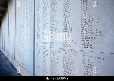 The Menin Gate Memorial to the Missing, Ypres, West Flanders, Belgium, Europe - Stock Photo