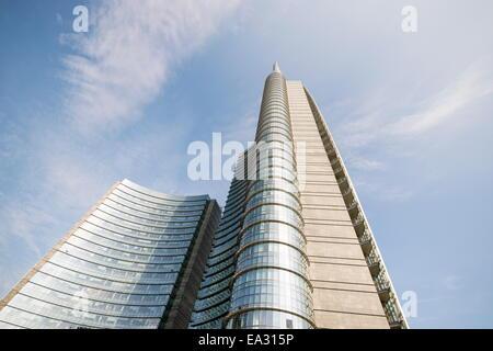 Piazza Gae Aulenti, Milan, Lombardy, Italy, Europe - Stock Photo