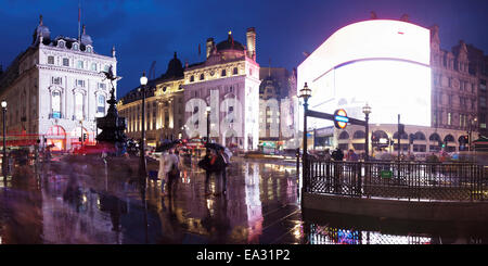 Statue of Eros, Piccadilly Circus, London, England, United Kingdom, Europe - Stock Photo