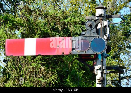 Old style railway signal - Stock Photo