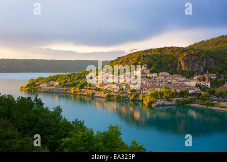 Bauduen Village, Lac de Sainte-Croix, Gorges du Verdon, France, Europe - Stock Photo