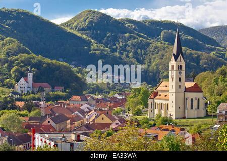 Town of Krapina panoramic view - Stock Photo