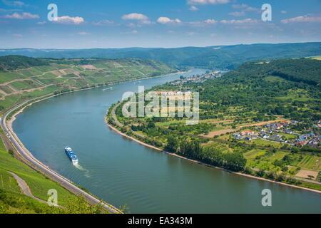 Boppard, Rhine Valley, UNESCO World Heritage Site, Rhineland-Palatinate, Germany, Europe - Stock Photo