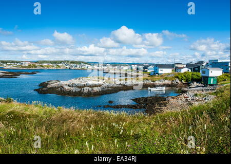 View over Port aux Basques, Newfoundland, Canada, North America - Stock Photo