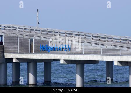Pier in Heiligenhafen, Baltic sea, Germany - Stock Photo