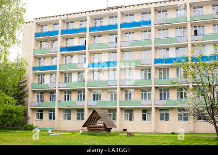 Modern hotel building, Minsk region, Belarus - Stock Photo