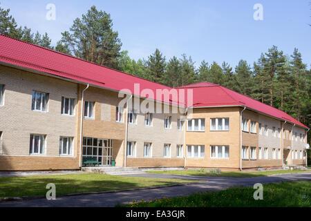 Hotel building, Minsk region, Belarus - Stock Photo