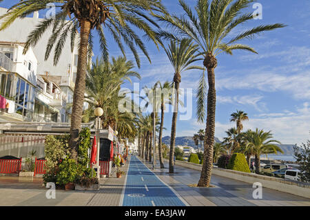 waterside promenade, Altea, Spain - Stock Photo