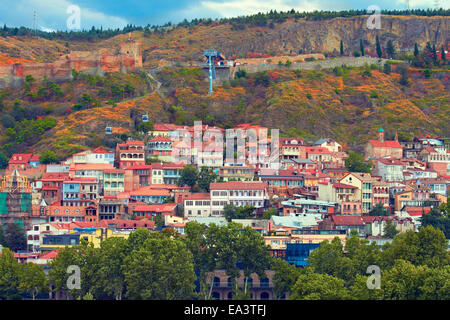 View of Old Town in Tbilisi, Georgia - Stock Photo