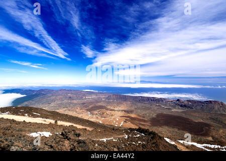 Mountain landscape from volcano Teide - Stock Photo
