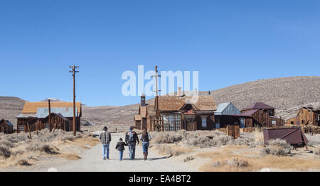 Bodie State Historic Park in Bodie, California . A former mining town now frozen in time and often referred to as - Stock Photo