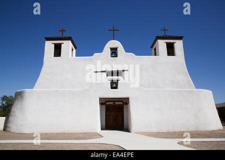 Isleta Pueblo, Saint Augustine Mission; New Mexico, United States of America - Stock Photo
