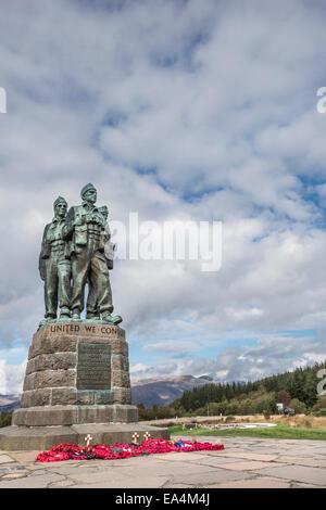 Commando Memorial at Spean Bridge. - Stock Photo