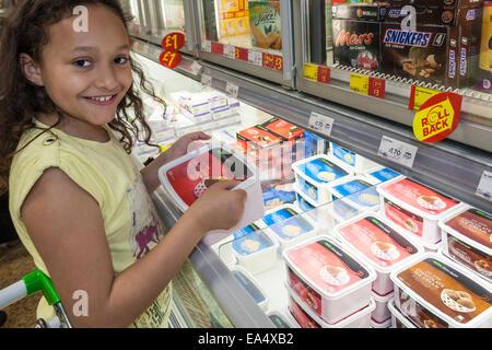 Freezer Food Van Man In Market In London