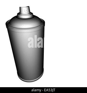 spray-can illustration grid pattern in black and white - Stock Photo