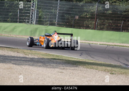 Imola, Italy - October 11, 2014: Dallara F312 - Mercedes of kfzteile24 Mücke Motorsport  Team, driven by Nissany - Stock Photo