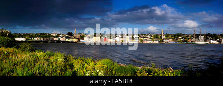New Ross on River Barrow, Co. Waterford, Ireland - Stock Photo