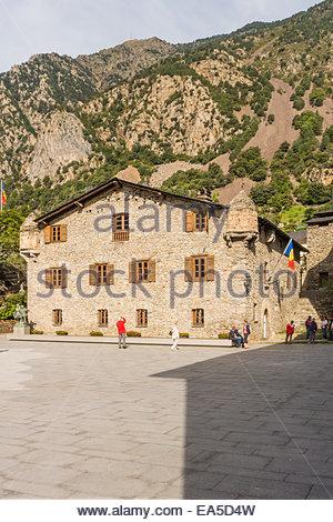 Andorra, Andorra la Vella, Casa de la Vall, old parlament - Stock Photo