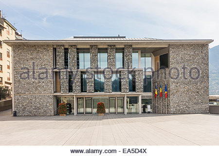 Andorra, Andorra la Vella, Parliament building - Stock Photo