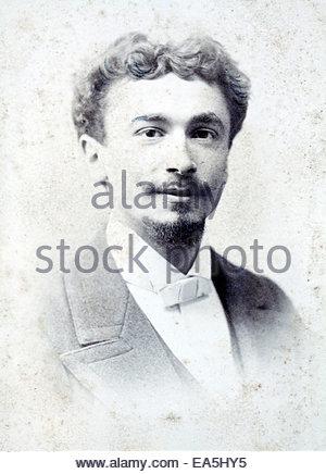 studio portrait man late 1800s - Stock Photo