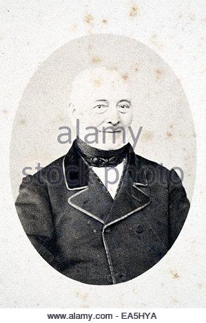 studio portrait elderly man late 1800s - Stock Photo