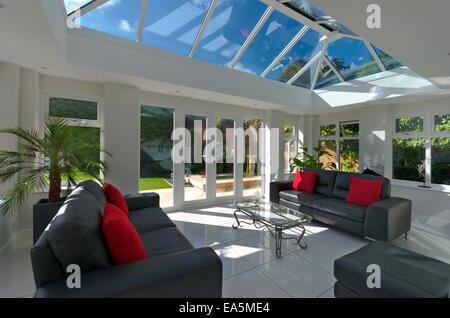Orangery style conservatory interior home improvement - Stock Photo