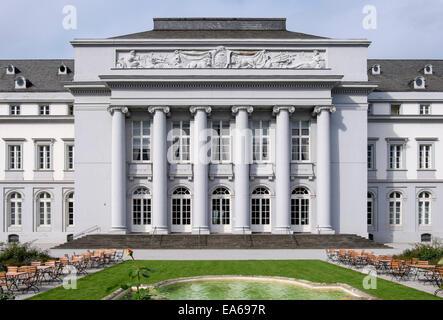 18th century Kurfürstliches Schloss or Electoral Palace and gardens in Koblenz, Rhineland-Palatinate, Germany - Stock Photo