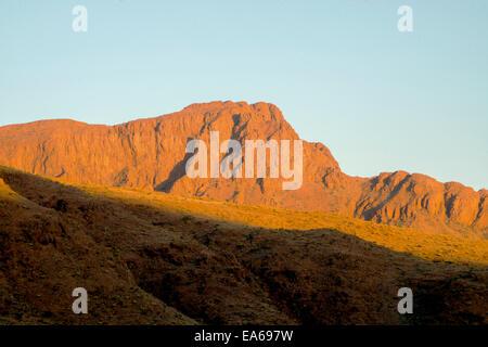Sunset in the Namib Desert - Stock Photo