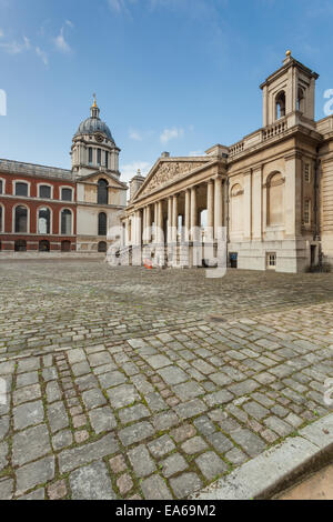 Old Royal Naval College in Greenwich, London. - Stock Photo