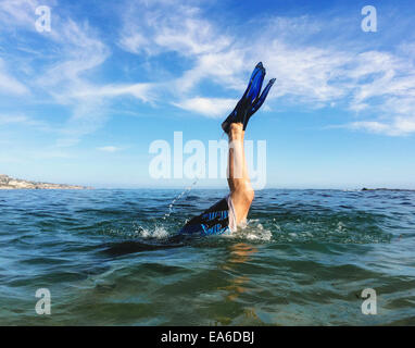 Diving in sea - Stock Photo