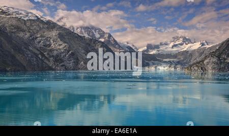 Mountain landscape, Glacier Bay National Park, Johns Hopkins Inlet, Alaska, USA - Stock Photo