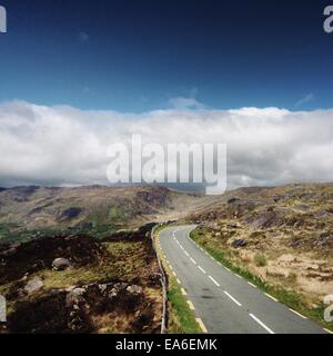 Ireland, Kerry, Road in mountains - Stock Photo