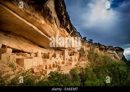 Cliff Palace, Mesa Verde National Park, Colorado, USA - Stock Photo