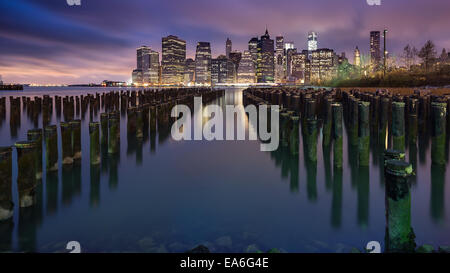 USA, New York State, New York CIty, Manhattan skyline - Stock Photo