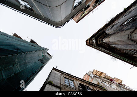 Portugal, Lisbon, Low angle view of houses - Stock Photo