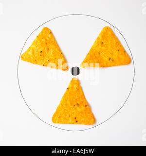 Conceptual radiation symbol - Stock Photo